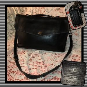 Coach F06457 Crosby Leather Laptop Business Bag